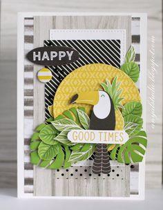 Assortment of die-cuts & # Echo Park Paper – Summer Fun & # Ephemera Qté 33 Card Making Inspiration, Making Ideas, Leaving Cards, Beach Cards, Echo Park Paper, Paper Birds, Hallmark Cards, Cricut Cards, Bird Cards