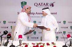 Oct. 2014. Qatar Airways announced a partnership of three seasons with the Kingdom's Al-Ahli Football Club.