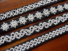This blog post has a link in the comments to a free vintage pdf book on tatting with instructions and patterns!   tatted headbands - fantastic idea Life to the Full: A Tatting Project #tatting