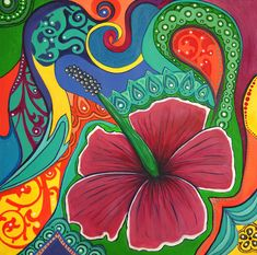 Hibiscus Dream Painting by Reina Cottier