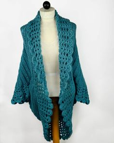Maggie's Crochet · Shell Edged Jacket Crochet Pattern