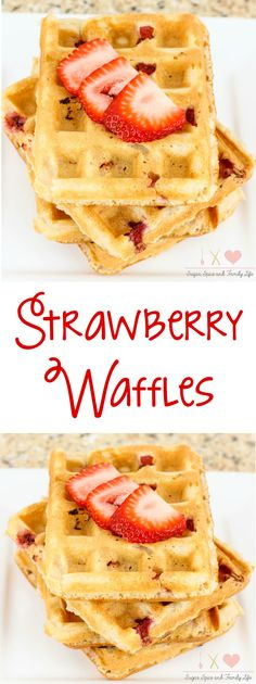Strawberry Waffles Recipe - Sugar, Spice and Family Life...