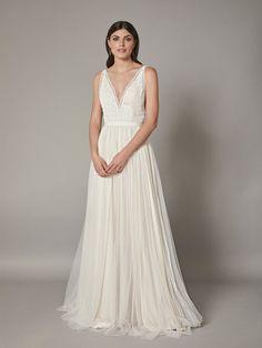 Catherine Deane, Dream Dress, Wedding Gowns, Bodice, Tulle, Satin, V Neck, Bridal, Formal Dresses
