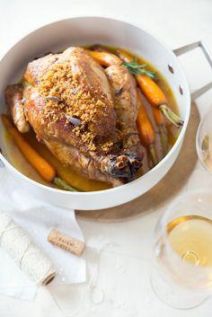 Chapon farci au pain d'épices et au foie gras ©Fraise & Basilic