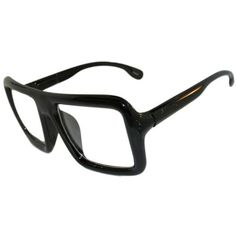 Huge Squared Manly Glasses! In Black with Shiny Finish GirlPROPS. $6.99. Save 65%!