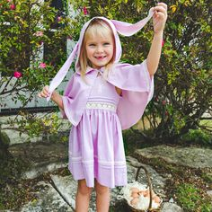 Inspired by the playful spirit and beautiful colors of the Easter Spring season, our Bessie Bunny embroidered dress and cape set will bring spring joy to your c