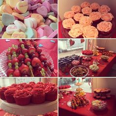 Fruit Skewers, Valentines Day Party, Roses, Hearts, Parties, Cupcakes, Events, Holiday Decor, Instagram Posts