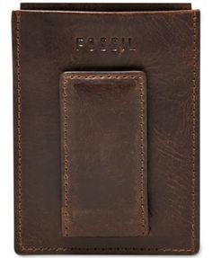 618110ceadd1 Fossil Men Leather Derrick Rfid Card Case. Slim WalletMen's LeatherCard  CaseFossilMoney ClipWalletsLeather ...