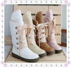 Fashion Women Shoes Lace Up Ties Faux Fleece Warm Lined Winter Boots B083