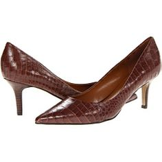Nine West Austin---brown shoes for my green dress?