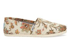 Vintage Paisley Paisley Women's Canvas Classics #tomsgivesbacktoschoolcontest #TOMS GIVES BACK TO SCHOOL CONTEST