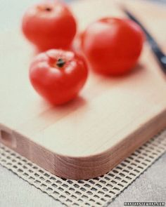 Non-Slip Cutting Board - To keep a cutting board from lurching or wobbling while you chop, set it on a piece of nonslip mesh -- the same rubber pad that's used to keep area rugs in place. Available from housewares stores, a rubber pad works under unsteady mixing bowls as well.