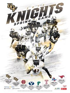 UCF Spring Football Poster | Poster Swag