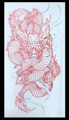 Amsterdam TATTOO 1825 KIMIHITO Dragon japanese tattoo design