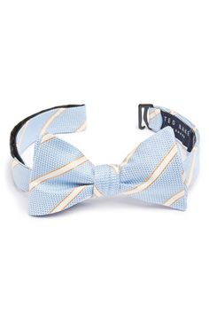 Ted Baker London Stripe Silk Bow Tie available at #Nordstrom