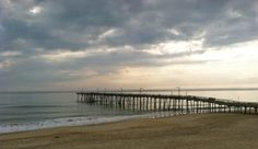 The Nags Head Fishing Pier on the Outer Banks of North Carolina. (There is also a lovely restaurant here which is perfect for a sunrise breakfast, :)