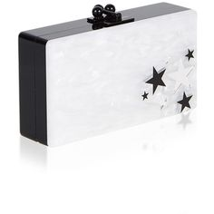 Edie Parker Jean Star Cluster Clutch (4.980 RON) ❤ liked on Polyvore featuring bags, handbags, clutches, flower print purse, cat purse, edie parker, floral handbags and floral print handbags