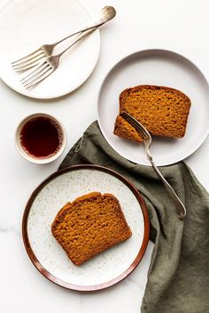 This easy pumpkin bread recipe makes a very moist loaf cake perfect for serving with tea in the afternoon in fall. No mixer needed!