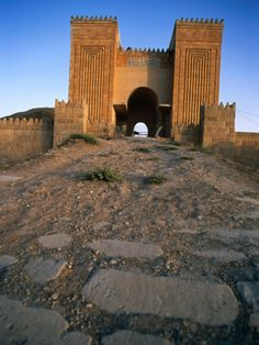 The Gates of Nineveh - capital of the Assyrian Empire and largest city of the world during the 7th Century BCE, it fell in 612 BCE during the Battle of Nineveh to the Babylonians and Chaldeans.