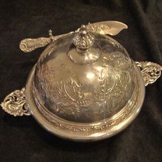*1880's: Beautiful Butter Dish by The Derby Silver Company