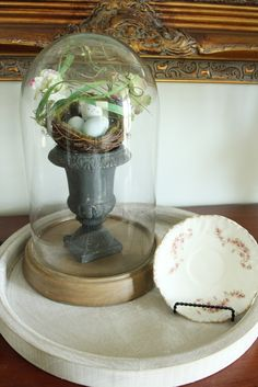 cloches display | Less-Than-Perfect Life of Bliss: Spring From the Inside Out