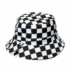 Clothes and Hats - Checker Bucket Hat Bucket Hat Outfit, Outfits With Hats, Cool Outfits, Bob Chapeau, Mode Adidas, Teen Fashion, Fashion Outfits, Accesorios Casual, Vetement Fashion