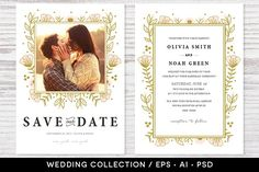 #Wedding #Invitation Collection Design by Pixejoo on @creativemarket