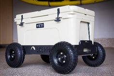 Not at that price tag! But would be a neat DIY idea for cooler. The FAT CADT - Sherpa Wheels for Yeti Coolers – sherpawheels Camping Survival, Camping Gear, Beach Camping, Camping Stuff, Arte Bar, Cooler Cart, Yeti Tundra, Beach Cart, Radio Flyer