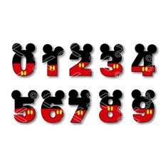 Minnie Mouse Numbers SVG DXF Cut Files - Birthday Numbers 0 through 9 SVG DXF - This vector design easy to cut with die cut machines like Silhouette Cameo, Cricut Explore and Scan N Cut. YOU'LL receive: – 1 SVG Cutting File – 1 DXF Cutting File Mickey Mouse Letters, Mickey Mouse Ears, Mickey Mouse Birthday, Baby First Birthday, Birthday Diy, Birthday Stuff, Donald Duck Party, Bolo Mickey, Mickey Mouse Wallpaper