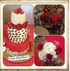 Red And Leopard Print Themed Baby Shower