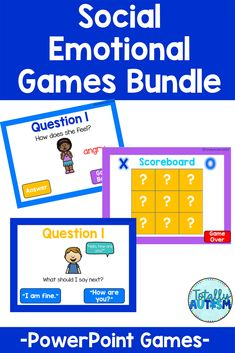 Spice up your social-emotional lesson plans with this bundle of PowerPoint Games! Students practice identifying emotions, conversational skills, and using good judgement while playing Tic-Tac-Toe or Race to the Top. This resource is perfect for social skills groups, virtual learning, or lessons on an interactive whiteboard. Powerpoint Games, Student Behavior, Interactive Whiteboard, Tic Tac, Special Needs, I Am Game, Social Skills, Spice Things Up, Lesson Plans