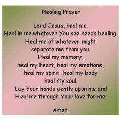 Prayer Quotes For Healing - Bing Immagini Prayers For Healing, Bible Prayers, Bible Scriptures, Healing Prayer, Healing Scriptures, Powerful Prayers, Catholic Prayers, Healing Heart, Healing Spells