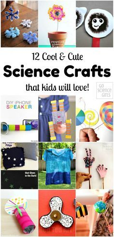 12 Cool and cute science crafts that kids will love! #Science #stem