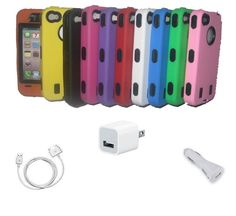 Defense Hard Case for iPhone 4/4S Pkg Deal + Free Shipping