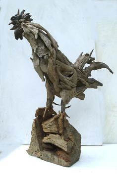 Farm Alarm driftwood Rooster by Tony Fredriksson