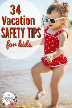 33 Vacation Safety Tips for Kids - Safety is important, even on vacation.  Use these 33 tips for keeping your kids safe on vacation, including tips for before you leave, on the way, at your hotel, in a crowd, and medicine and vitamin storage and safety.  These tips will help you have a fun and safe vacation with the family. #MedsUpAway AD