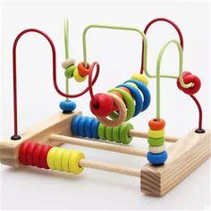 Uma peça de alta qualidade de madeira ábaco brinquedo em torno de contas Montessori de madeira brinquedos educativos para crianças presentes de aniversário