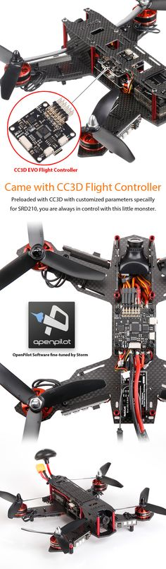 Storm Racing Drone (RTF / SRD210 / CC3D) http://www.helipal.com/storm-racing-drone-rtf-srd210-cc3d.html