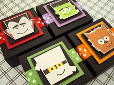 Friendly Monsters Halloween Party Favor Boxes Set by SimpleTastes, $25.00