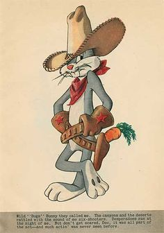 The Life Story of Bugs Bunny, A Hare Grows In Manhattan, Coronet Magazine, December Looney Tunes Characters, Classic Cartoon Characters, Looney Tunes Cartoons, Retro Cartoons, Favorite Cartoon Character, Old Cartoons, Vintage Cartoon, Classic Cartoons, Looney Tunes Funny