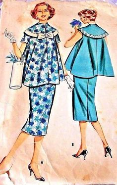 c8a233886f8 Vintage McCall s Sewing Pattern Maternity Size 14 Bust 34 Two Piece Dresses