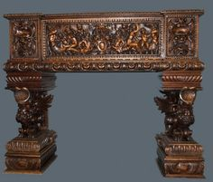 RENAISSANCE STYLE MASSIVE CARVED COURT CUPBOARD : Lot 401