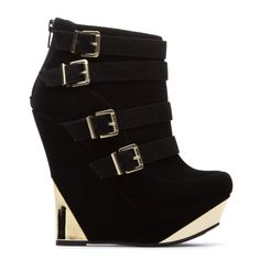 Sky high wedge bootie