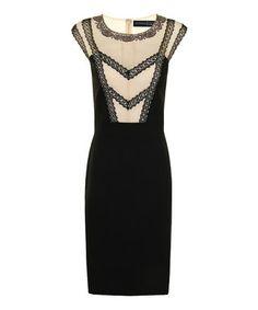 Cream & Black Lace Lori Dress - Women & Plus