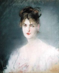 Portrait Of a Woman With Blue Eyes ~ Edouard Manet ~ (1878 - 1879)