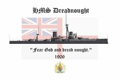 HMS Dreadnought.  Art by C.S.Bailey.   www.warmachinetees.com