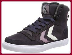 Hummel Stadil Oiled Unisex-Erwachsene Sneaker, Grau (nine Iron), 39 - Sneakers für frauen (*Partner-Link)