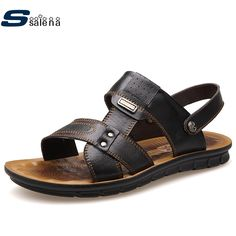 Gladiator Sandals Men Leather New Arrival High Quality Shoes Men All Match Casual Shoes AA10046