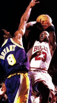 Kobe guarding Michael
