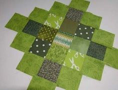 lovely green granny square block